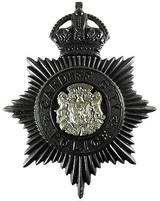 Cardiff City Police Blackened Helmet Badge