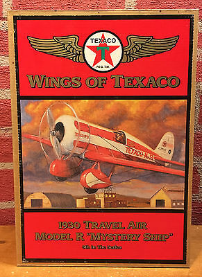 Wings of Texaco - 1930 Mystery Ship Diecast Coin Bank - 1997 - Original Box