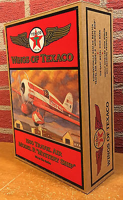 Wings of Texaco - 1930 Mystery Ship Diecast Coin Bank - 1997 - Original Box - #2