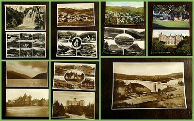13 Scottish postcards - all different