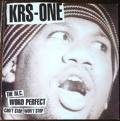 "KRS-One – Can't Stop, Won't Stop / The MC / Word Perfect 12"" 1996 UNPLAYED!"