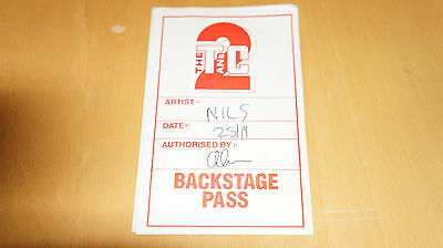 Nils Lofgren - London Town and Country Backstage Pass        (not promo ticket)