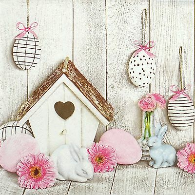 4 Single Lunch Party Paper Napkins for Decoupage Decopatch Craft Bird House