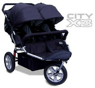 New Tike Tech CityX3 CLASSIC BLACK Double Twin Child Stroller