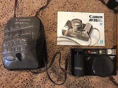 Canon AF35ML with Case, Manual, and 3 Rolls of Film - No Reserve