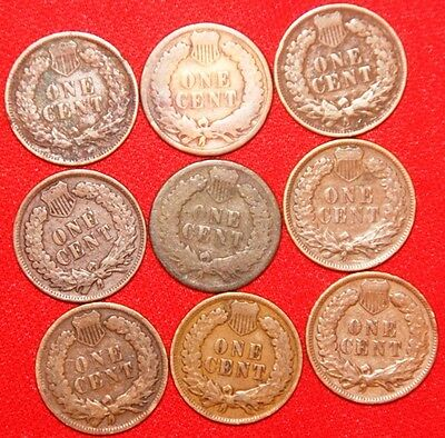 USA - 9 x Coin Mix (Small Cents)