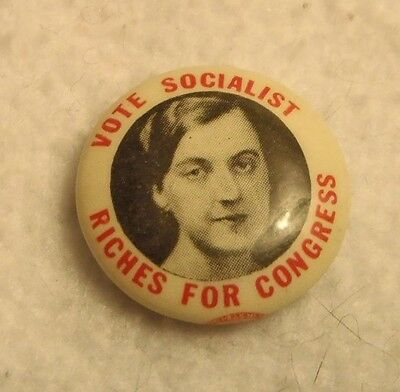 "1934 - Vote Socialist ""Riches for Congress"""