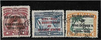 COOK ISL 1935 Silver Jubilee SG 113-5 very fine used as scan
