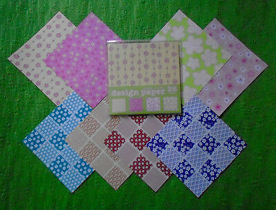44 Japanese Origami Papers with SAKURA & UME Flower Patterns