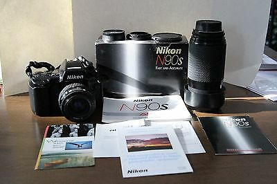 Nikon N90S Film Camera With 2 Lenses-Tested