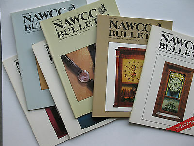 Mint 1991 NAWCC BULLETIN all 6 clock history issues (also have 1994, 1995,1997)