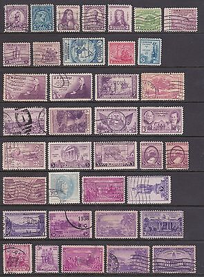 old US stamps 1930s commemorative issues.
