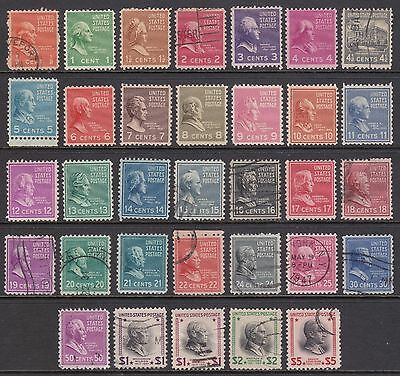 old US stamps 1938 Presidential issue.