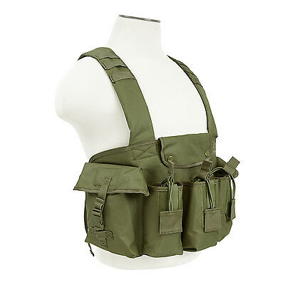 NcStar CVAKCR2921 OD GREEN Tactical Chest Rig w/3 Double Magazine Pouches