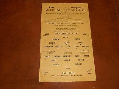 WOLVERHAMPTON WANDERERS  :  MANCHESTER CITY  v  EVERTON  1965/6 F A CUP 6th 2ndR