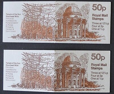1982 Pair 50p Follies No5 Temple of the sun Booklets FB21A/B