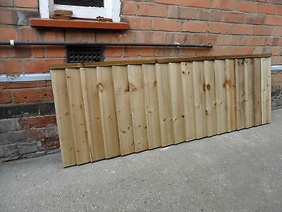 A Premium Heavy Duty Treated 6x2 2ft Timber Wood Fence Panel Fencing