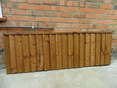 A Premium Heavy Duty Brown Treated 6x2 2ft Timber Wood Fence Panel Fencing