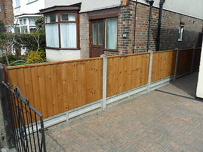 A Premium Heavy Duty Brown Treated 6x3 3ft Timber Wood Fence Panel Fencing
