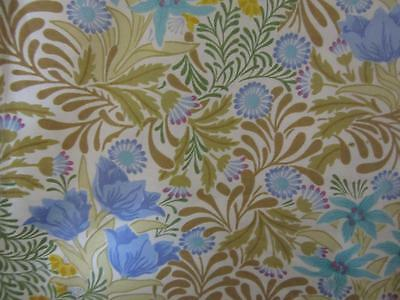 Two Lovely Curtain Lengths Of Vintage Sandersons William Morris Bower Fabric