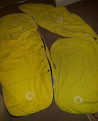 Bugaboo Cameleon Yellow cosytoes, seat cover and hood
