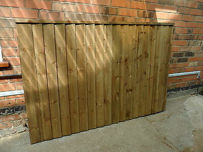 A Premium Heavy Duty Treated 6x4 4ft Timber Wood Fence Panel Fencing