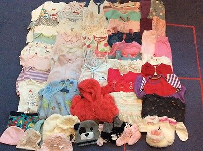 Baby Girls Clothes Bundle 0-6, 6-12 Months 60 Items