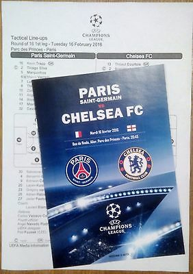 Europa & Champions League 2015/16 FAN programmes + official lineups