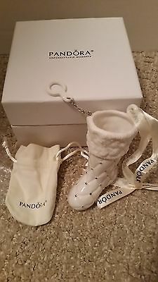 2012 Limited Edition / Retired Pandora Porcelain Stocking Ornament With Box