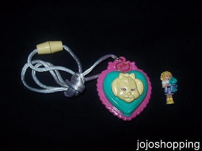 100% Complete EUC Polly Pocket Polly's Puppy Pendant 1994