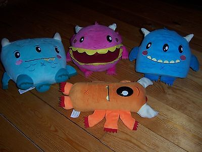 Bundle Big Monster Soft Toys, 4 in Total, CUTE & BRIGHT COLOURS