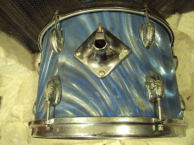 Vintage Slingerland Drum USA, Classic Blue Swirl, Great Playing Condition,