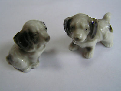 Vintage China / Porcelain Dogs X 2 - Spaniels