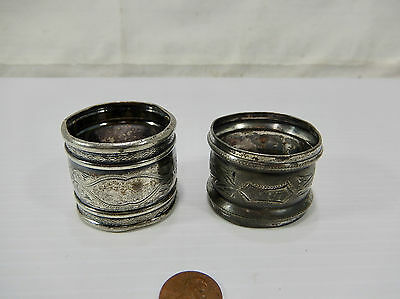 Two (2) Antique Victorian Silverplate Napkin Rings