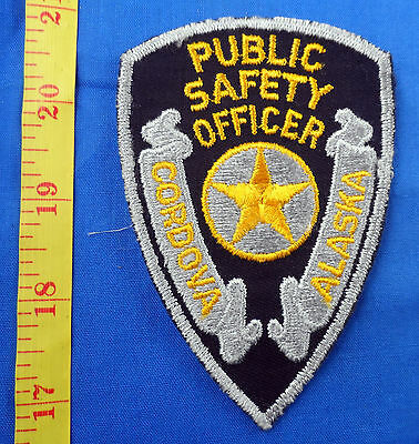 Old Worn Cordova Alaska Public Safety Officer Police Embroidered Cloth Patch