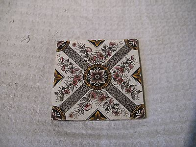 Antique Victorian Transfer Printed Fireplace Tile - Baker, Tuckers & Co