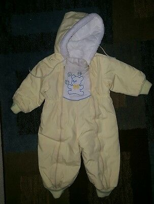 Vintage Stormbreakers Baby Snow suit Size 18 Months yellow boy girl unisex