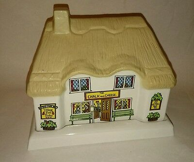 """Lovely Wade Pottery Butter Dish """"The Chalk and Cheese"""" Boxed"""