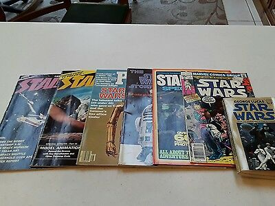 Star Wars Vintage Collection of Magazines, Paperback Book and Comic Book