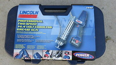 Professional 14.4 Volt Power Luber Cordless Grease Gun W/carrying Case New