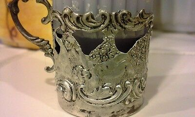 Antique Sterling Silver Candle Holder, Hand Crafted