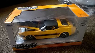1973 Ford Mustang Mach 1 1:24 Scale Diecast Model Yellow