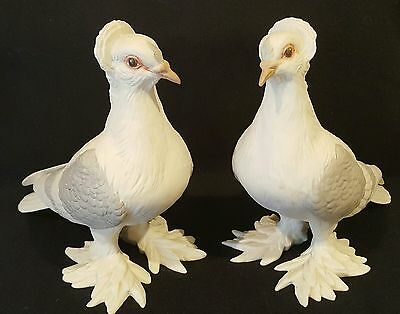 Set of 2 Boehm Porcelain Tumbler Pigeons