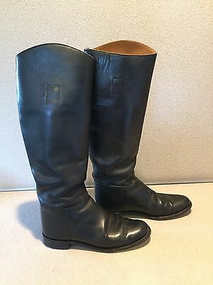 Marlborough  Black Leather Knee High Riding Boots- Women US 6B ENGLAND - EUC