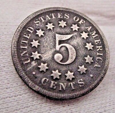 1868 Shield Nickle Coin                               Us Coin