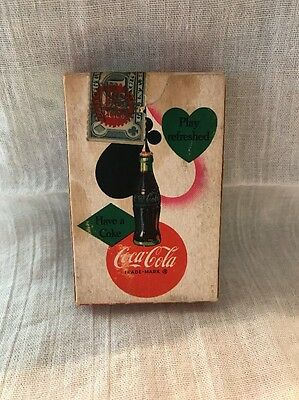Vintage 1950S Coca-Cola In Bottles Play Refreshed Playing Cards *sealed*