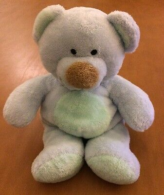 Ty Pluffies Light Blue Bear From 2002 Named Blueberry
