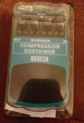 Behringer CS100 Compressor Sustainer Guitar Effects Pedal