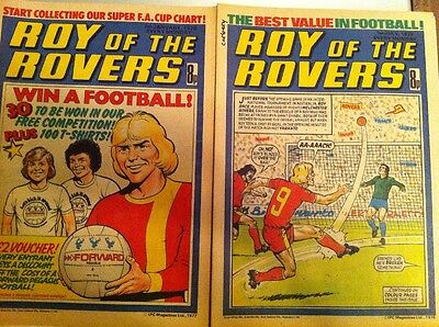 Roy Of The Rovers Complete Run 1977 and 1978