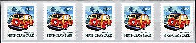 The Woody Persort 1st Class Card Rate Coils PNC5 MNH Scott's 3522